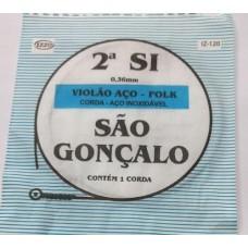 CORDA AVULSA VIOLÃO AÇO 2a SI 014 SÃO GONÇALO